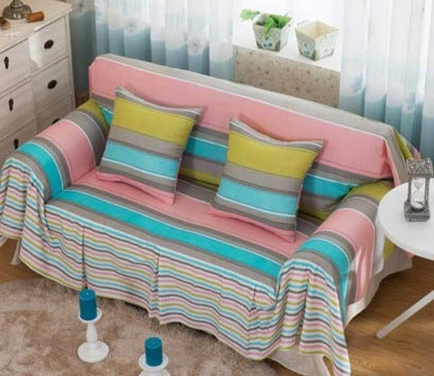 Zoomy far Single Two Three Four-Seater Sofa Cotton Slip-Resistant Sofa Slipcover Couch Cover for Lig Room Sofa Towel Home Decor   01, Single Seater Sofa