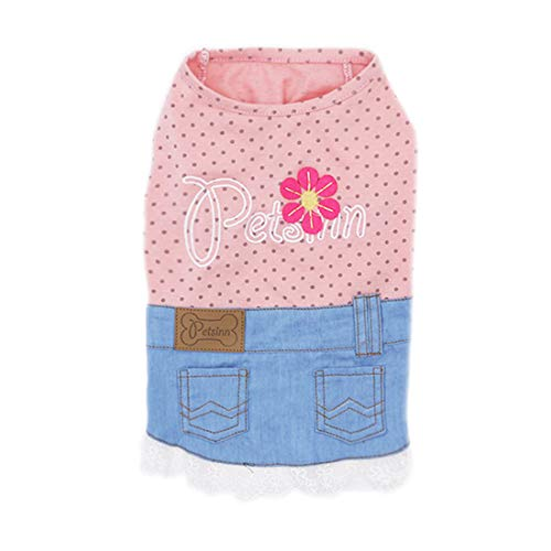 KYEESE Dog Sunflower Shirt Girl with Lace Dog T-Shirt Sleeveless Tank Top Dog Apparel