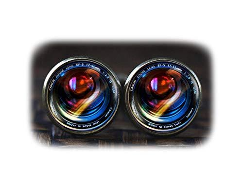 Objectifs d'appareils photo Boutons de manchette, appareil photo, boutons de manchette, lentille de l'appareil photo Art Cadeau