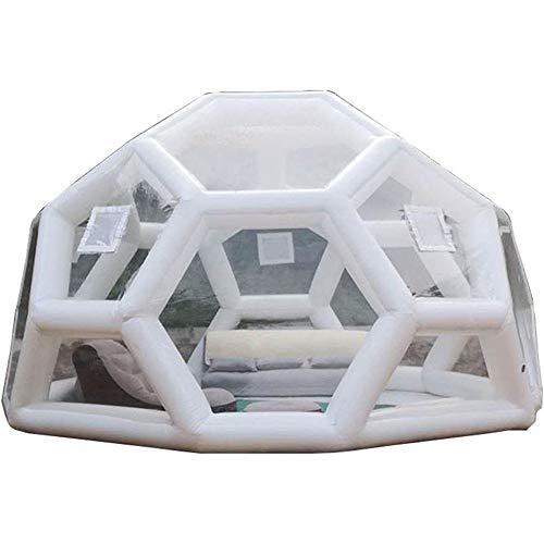 JASSXIN Aufblasbare Blase Zelt für Garten, Fußball Zelt, PVC Fußball Zelt, Riesen Klar Kuppelzelt, Werbe Igloo Aufblasbare Strand-Zelt,5M Diameter