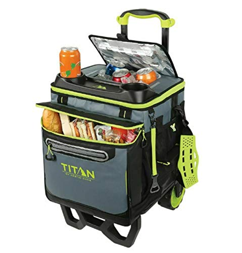 Titan - Nevera de 22,5litros, con capacidad para 60 latas y carro...