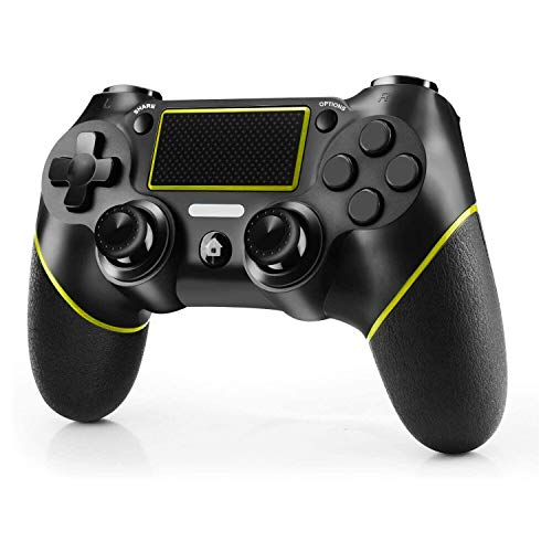 JAMSWALL Controller für PS4, Wireless Gaming Controller für PS4 Dual-Vibration Turbo Gamepad Joystick für PlayStation 4 / Pro / Slim / PC, mit Sechsachsen und Audio-Buchse