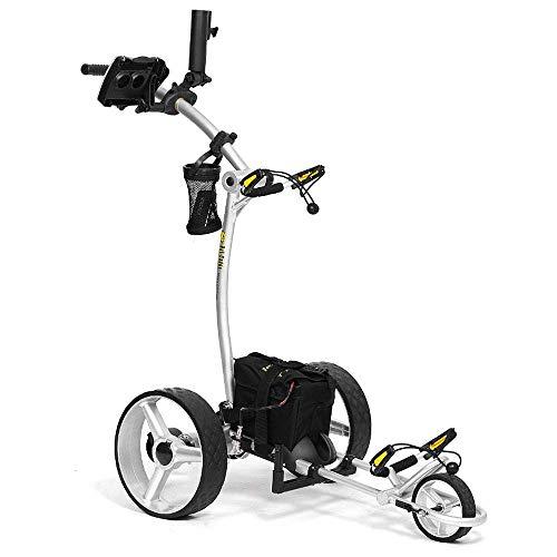 Bat-Caddy X4R Sport Remote Control Cart w/ Free Accessory Kit, 20 AH Lithium, Silver