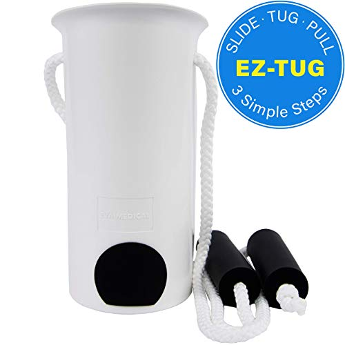 Image of Medical Ez-Tug Sock Aid Assist with Foam Grip Handles & Length Adjustable Cords