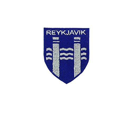 Patch Ecusson-gesticktem Backpack Flagge Wappen Länder armoirie Reykjavik Island