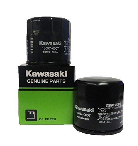 Genuine Kawasaki Oil Filter Part Number 16097-0007, 2 pack