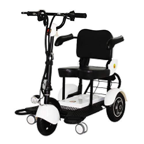 ZHAORU Leichter zusammenklappbarer Mobilitätsroller 3 Sekunden Sofort zusammenklappbares Design, Mobilitätsroller Elektromotor Mobiler Rollstuhl 4-Rad, große Reichweite