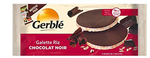 Gerblé Galettes de riz au chocolat noir, 4x2 Galettes (Emballages individuels), 130g, 208678