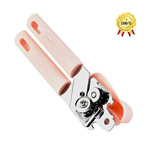 Iceclubs Dosenöffner - Sicherheits- / Multifunktions-Edelstahlöffner - Pink,Konservenöffner mit gehärtetem Schneidrad aus verchromtem Stahl, ergonomischer & abgerundeter Griff