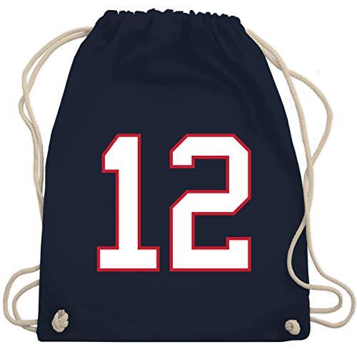 American Football - Football New England 12 - Unisize - Navy Blau - new bag - WM110 - Turnbeutel und Stoffbeutel aus Baumwolle