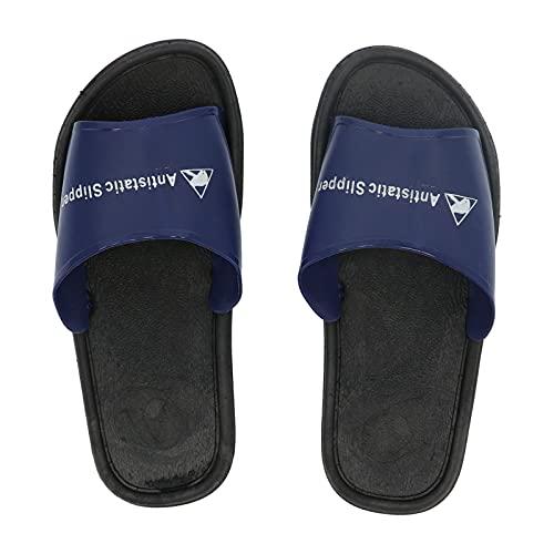 Longzhuo Sandalias de Trabajo, Pantuflas de PVC antiestático Sandalias de Trabajo a Prueba de Polvo Zapatos para el baño del hogar Sala Limpia de Trabajo(44)