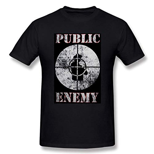 LXYTX 2018 Public Shirt Enemy Hip Hop Rap Group T-Shirts Black