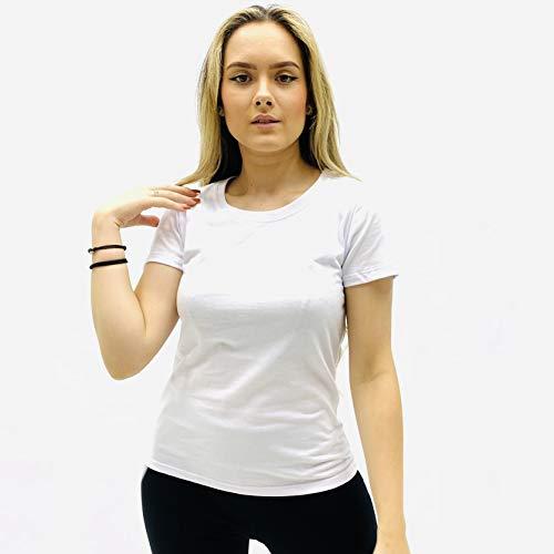 Camiseta Básica, Hering, Feminino, Branco, G