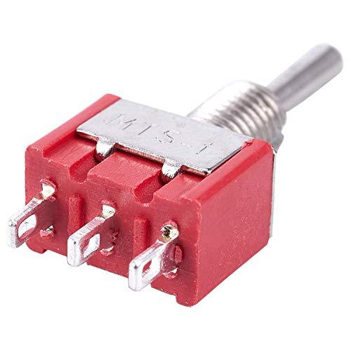 SNOWINSPRING 5 X MomentáNeo (Encendido) Apagado (Encendido) Interruptor de Palanca Modelo Ferrocarril SPDT 12V, Plateado