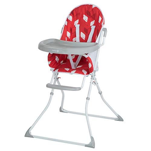 Safety 1st Kanji Chaise Haute Enfant Pliable, de 6 mois à 3,5 ans, Red Campus