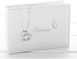 Wedding Rings and Butterfly Photo Album - Wedding Day Gift by ukgiftstoreonline