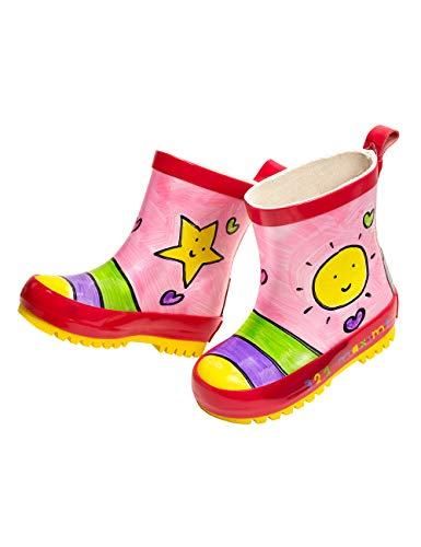 maximo 93203-891300 Kinder Gummistiefel Stiefeletten Sonne Kurzstiefel (24 EU, Mehrfarbig)