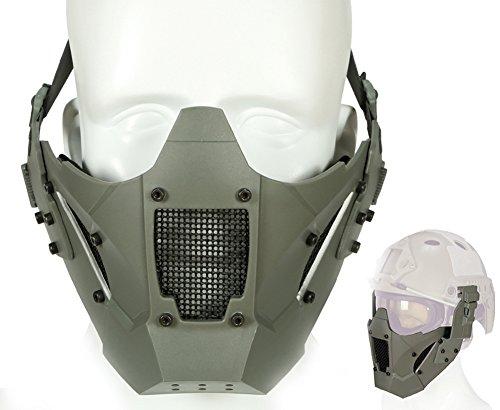 ATAIRSOFT Tactical Half Face Mesh Maske Fit Schnelle Helmschiene für Airsoft Jagd Paintball CS Spiel BB Gun Shooting FG