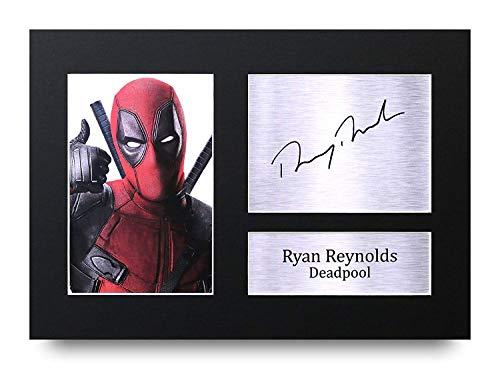 HWC Trading Ryan Reynolds A4 Ungerahmt Signiert Gedruckt Autogramme Bild Druck-Fotoanzeige Geschenk Für Deadpool Filmfans