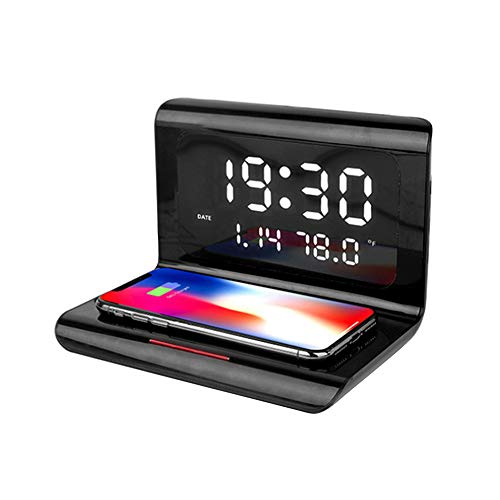 SHANGXIN Wireless Fast Charger, Multi-Function Charger, Charger with Time Display, Not Only Can Charge Your Mobile Phone, but Also Provide Services Such as Alarm Clock.