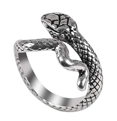 CrownOfRibbons Snake Ring, Serpent Jewellery in an Organza Gift Bag