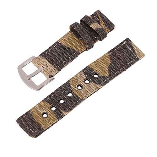 Correa de Reloj Banda de Reloj de Lona Hombres Mujeres Mujeres Relojes Sport Watch Bands Correa Cinturón Accesorios 18mm 20mm 22mm 24mm (Band Color : Purple)