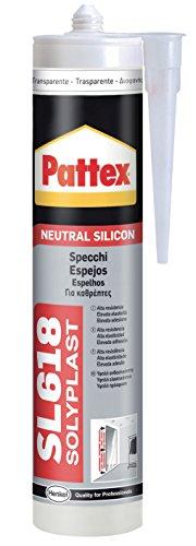 Pattex 1535859 SL 618 Silicone pour châssis et construction, transparent, 300 ml