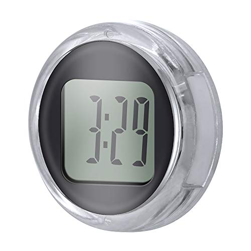 SPGHOME Motorrad-Uhr, Universal-Mini-Motorrad-Uhr, wasserdicht, aufklebbar, digitale Lenker-Uhr für Motorrad