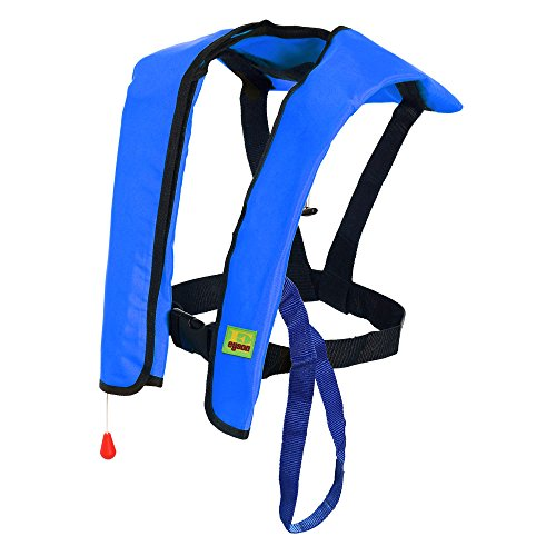 Premium Quality Automatic/Manual Inflatable Life Jacket Lifejacket PFD Floating Life Vest Inflate Survival Aid Lifesaving PFD Basic Blue Color