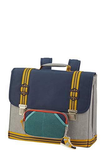 Samsonite Sam School Spirit - Schultasche M, 40 cm, 15 L, mehrfarbig (American Grey Denim)