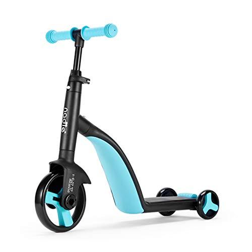 CHUN LING Kinder Roller Dreirad, 3 In 1 Balance Bike, Outdoor Kleinkind Ride-On Bike Multifunktional, Für Kinder...