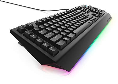 Dell Alienware Advanced AW Wired Gaming Mechanische Bruine Schakelaar Toetsenbord met RGB Omgevingsverlichting - 5 Programmeerbare Macro-sleutelfuncties - Zwart