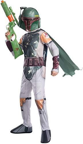 Disfraz de oficial de Disney Star Wars Boba Fett de Rubie's, para niño, tamaño mediano