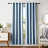 AmazonBasics Room Darkening Blackout Window Curtains with Grommets  - 52' x 84', Light Blue, 2 Panels