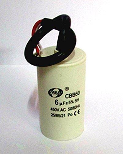 Gazechimp CBB60 Condensador de AC Motor 450V 6UF...