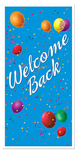 Beistle Welcome Back Door Cover, 30-Inch by 5-F