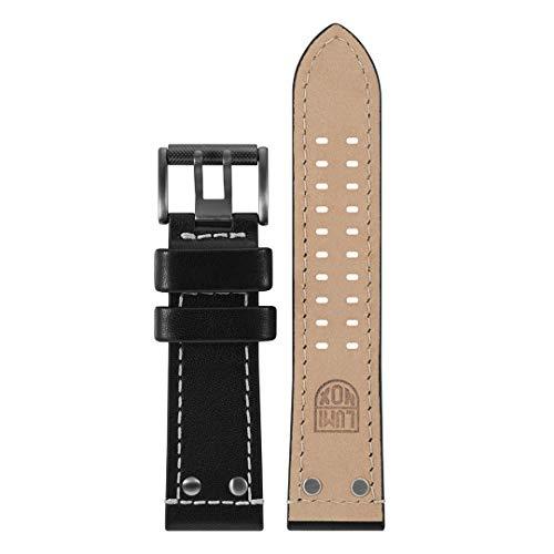 Luminox Atacama-Serie Herren-Uhrenarmband, graues und schwarzes Lederarmband, Edelstahl-Schnalle, Uh