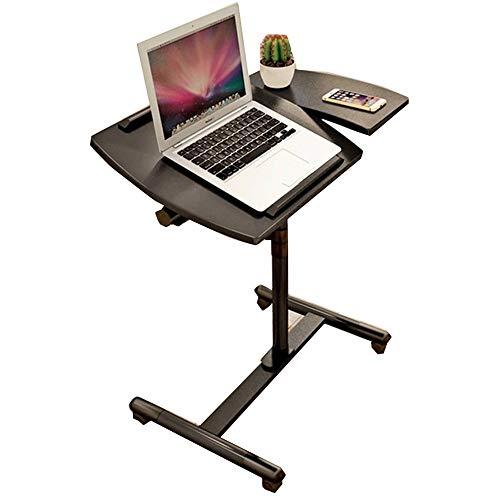 Klapptisch YNN Tragbare Laptop-Standplatz-Wagen mit Maus-Board, höhenverstellbar, 360 ° schwenkbar und 180 ° Neigung, abschließbare Rollen (Farbe : SCHWARZ)