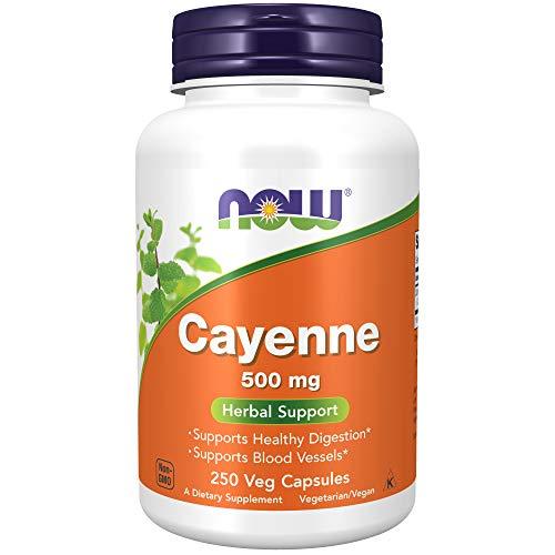 Now Foods | Cayenne | 500 mg | 250 vegane Kapseln | glutenfrei