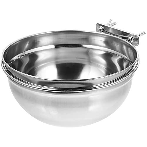 Balacoo Gabbia del Cane Feeder Bowl Appeso Pet Ciotole in Acciaio Inox Dog Cat Acqua di Alimentazione Alimento Piatto Pet Distributore di Alimenti di Origine Animale per Casa 20X20X10CM