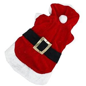 Petit Chien Sweat à capuche Dog Costume de Père Noël