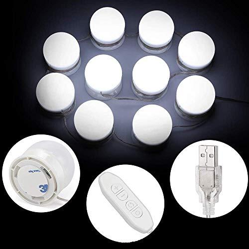 N /A KAIXINDDDD Kosmetikspiegelleuchten-Kits, 10 einstellbare Helligkeit für Make-up-Badezimmer und Schminkspiegel, DREI Farben dimmbar