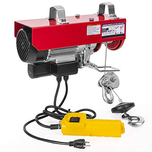 XtremepowerUS 880-Pounds Lift Electric Hoist Overhead Crane Ceiling Lift Winch Hoist with Remote Control Dual Line Operation