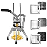 Panghuhu88 French Fries Cutter Comercial Vegetables Chopper with 1/2-Inch, 3/8-Inch, 1/4-Inch Blades...