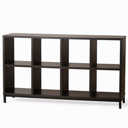 Better Homes and Gardens 8-Cube Organizer with Metal Base - Espresso