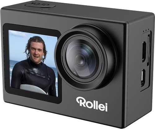 Rollei Actioncam 7S Plus, 4K-Action-Cam mit WIFI,Webcam-Funktion,Selfie-Frontdisplay u.viel Zubehör