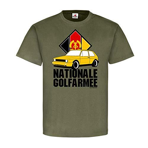 Copytec Nationale Golfarmee Golf 1 2 3 4 Auto KFZ Fan Club Volksarmee NVA DDR Ostdeutschland Tuning Treffen Oldtimer Fun #21594, Größe:L, Farbe:Oliv