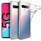 PIXFAB - Carcasa para Samsung Galaxy S10 5G SM-G977F, transparente y elegante, ultrafina, a prueba de golpes, gel de silicona TPU