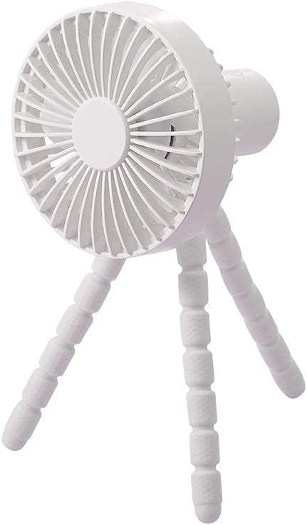 USB Battery Operated Fan ,Portable Clip On Fan, Stroller Fan Clip On For Baby, Window Fan,Car Seat , Room Fan, Office, Camping Fan, Tent Fan(1800mAh Rechargeable Battery Power Supply) (white)