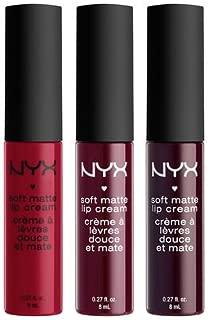 NYX Cosmetics Soft Matte Lip Cream Set of 3 (Monte Carlo, Copenhagen, and Transylvania)